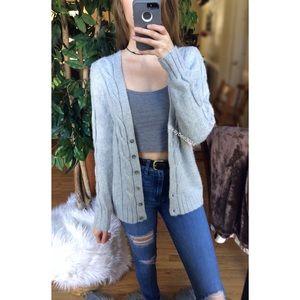 🌿 Cozy Gray Essential Knit Cardigan 🌿